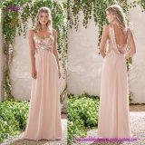 Schaufel-Brautjunfer-Kleid-Kombination für einen faszinierenden Blick