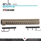 Composto da fibra do carbono de Keymod Handguard do trilho de um Picatinny de 15 polegadas (CFC)
