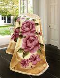 暖かく柔らかい印刷されたRaschelのアクリルのミンク毛布