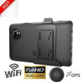 """熱い販売5.0 """" GPS WiFiのHD1080p車のカメラ; Gセンサー; WDR; 夜間視界機能DVR-2401"""