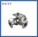 Válvula de esfera sanitária Three-Piece da braçadeira do aço inoxidável tri