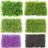 Plastique fait sur commande aménageant l'herbe artificielle décorative Greening verticale de gazon de mur de centrale