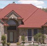 Tipos en enlace de azulejos de material para techos del metal de la arena/de azotea revestidos del acero de la viruta de la piedra del color de la terracota