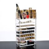 Nuevo estilo 7 personalizado de acrílico transparente de la capa de lápiz de labios Caja de almacenamiento