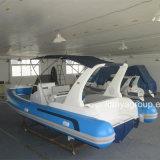 Vente gonflable de bateau de petite de cabine de Liya 7.5m de côte fibre de verre de bateau