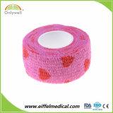 Não Tecidos elásticos fita impermeável auto-adesiva Vet bandagem coesa de Cintagem