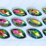 Punkt-formte rückseitiger Kristallglas-Stein in Navette