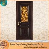 Deshengの木のフラッシュガラスパネル・ドアデザイン