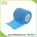 FDA coesiva elastica non tessuta del Ce di iso della fasciatura del cotone a gettare