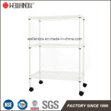Easy Assembles Adjustable White 3 Shelves Light Duty Metal Wire Shelving Storage Rack for Wholesale