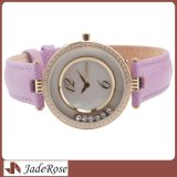 OEM Diamond Watches, Genuine Leatherstrap Watch, Fashion Ladies Watch