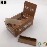 아마존 판매인 더 부유한 표백하지 않는 담배 종이 뭉치 1개의 1/4 크기 (78*44mm)