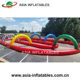 Pista de raza inflable al aire libre de Zorb para el parque de atracciones