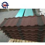 上塗を施してあるアスファルト鉄片屋根瓦50年の保証の石の