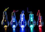 Lâmpada LED coloridos de vidro OEM bebidas garrafa de sumo