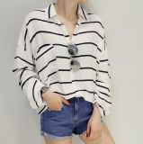 Оптовая продажа Stripes ворот пола рубашек повелительниц