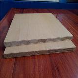 Chapa de madera natural y melamina cara del papel de la Junta de bloque
