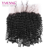 Yvonne 비꼬인 꼬부라진 360 레이스 정면 22.5*4 머리 자연적인 색깔