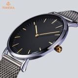 人のステンレス鋼の網ストラップの超薄いカスタム腕時計72951