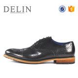 Горячая продажа черный цвет свадебная обувь из натуральной кожи для мужчин