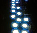 éclairage de panneau rond de la couleur DEL de 6+3W 9+3W 12+3W 18+6W double