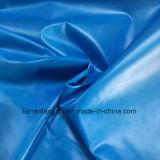 polyester 300t et tissu réutilisé de taffetas avec le pétrole du côté front Cire