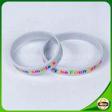 Bracelets personnalisés par silicones purs en caoutchouc de silicones de logo de 100%