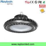 Compartiment élevé industriel DEL d'UFO du compartiment inférieur transparent 200W de modèle
