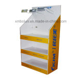 La pantalla flexible para rack de baldosas de las unidades de Suelo de piso cartón mostrar