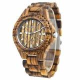 Moda 2018 Mens Watch de madera de madera de bambú de cuarzo Ver reloj hombre automático de la fecha