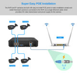 4CH 1080P NVR 1.0MP 15V Poe IPのカメラP2p HDMI