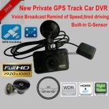 2017 neues Auto DVR Identifikation-2.7inch mit GPS, der Weg-Auto-Gedankenstrich-Kamera durch Play-back Googlemap, GPS-Logger-Auto-Digital-Videogerät aufspürt