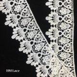 la broderie florale de garniture de coton de lacet de Penoy de blanc de 8cm a évidé à l'extérieur l'échantillon Hmhb1162 libre de garniture de lacet