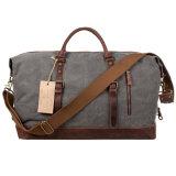 人の週末の学生かばんのキャンバスの革Holdall旅行Duffelのトートバックかハンドバッグ