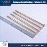 OEM à tête ronde à six pans de l'acier longue vis atypique standard en aluminium
