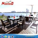 Meubles de salle à manger Table et chaise pour la vente et de plein air Manger PE Rotin Table de billard