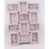 Frame van de Foto van de Baby van de Stip van de Decoratie van het huis het Roze Leuke Ceramische