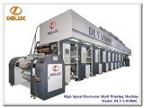 Presse typographique automatique à grande vitesse de rotogravure avec l'entraînement d'arbre électronique (DLYA-81000C)