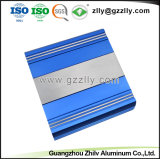 Extrusão azul dissipador de calor em alumínio anodizado para o amplificador de áudio automaticamente