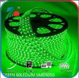 10mm 5050 uso dell'interno ed esterno dell'indicatore luminoso 110V della striscia di SMD dell'indicatore luminoso di striscia verde chiaro