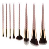 l'unicorno 8PCS ha progettato l'insieme di spazzole di profilo di Concealer della polvere delle spazzole dell'ombretto della spazzola del fondamento delle spazzole di trucco