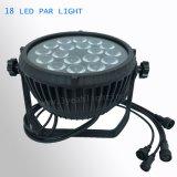 18*18W LED NENNWERT Licht Wateproof RGBWA UV6in1