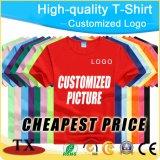 T-shirt unisexe de vente chaud de vêtement pour annoncer l'habillement de chemises