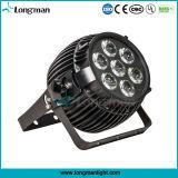 DMX RGBW RoHS al aire libre 7X15W luces LED de iluminación de escenarios alquiler