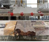Польностью автоматический автомат для резки лазера каменный для профилировать рамку окна