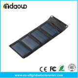 Cargador solar portable 7W para la alta calidad hecha salir USB del cargador del panel solar del cargador de los teléfonos móviles/de batería de la batería de la potencia que expide libremente