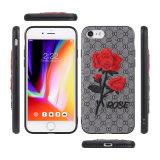 더하기 iPhone 6을%s 로즈 꽃 3D 디자인 연약한 수를 놓은 상자