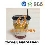 Tazza di carta bevente calda a parete semplice all'ingrosso del caffè 4oz