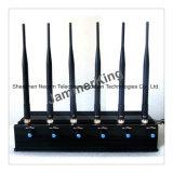 Antenne WiFi der Leistungs-6 u. GPS-u. Handy-Hemmer-/justierbare FernsteuerungsLeistungs-TischplattenHandy-Hemmer mit 2 kühleren Ventilatoren