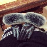 PU перчатки заяц шарик перчатки кожаные перчатки
